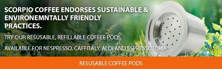 Environmentally Friendly, Reusable Coffee Pods