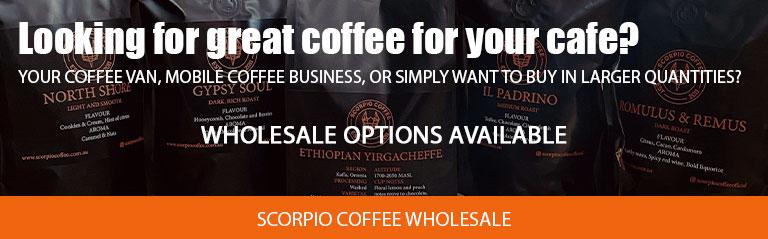 Buy wholesale coffee from Scorpio Coffee